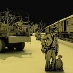 Jelenet a Nemzetidegenek c. filmből / Schnitt aus dem Film Außenseiter der Nation