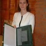 Hebling Eszter, a Graphisoft-díj kitüntetettje / Eszter Hebling, Graphisoft-Preisträgerin (Foto: Mária Klotz)