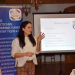 Bunth Edina, a Landesrat ifjúsági szekciójának vezetője / Edina Bunth, die Leiterin der Jugendsektion des Landesrates