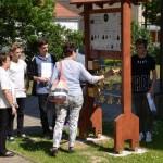A sombereki német nemzetiségi tanösvény főpróbája / Generalprobe des ungarndeutschen Lehrpfades in Schomberg (Foto: János Flódung)