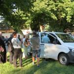 A BMI-kisbusz ünnepélyes átadója Pécsváradon / Feierliche Übergabe des BMI-Kleinbusses in Petschwar