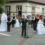 Szoboravató Pilisvörösváron / Einweihung der Gedenkstatuen in Werischwar