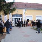 Emléktábla avatás Babarcon (Fotó: Babarc község)