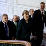 Merkel kancellár asszony megérkezik az AUB-re / Ankunft der Bundeskanzlerin an der AUB  (fotó/Foto: Andrássy Universität Budapest/Ancsin Gábor)