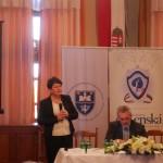 Erzsébet Holler-Racskó, die Vorsitzende der Landesselbstverwaltung der Slowaken in Ungarn