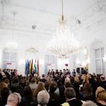 Merkel kancellár asszony megválaszolja a diákok kérdéseit / Bundeskanzlerin Merkel beantwortet die Fragen der Studierenden (fotó/Foto: Andrássy Universität Budapest/Ancsin Gábor)