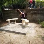 Anlässlich des Jubiläums wurde eine Gedenkbank errichtet.