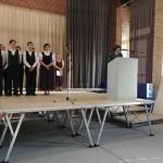 Wolfart Jánosné ünnepi beszédet mondott / Maria Wolfart hielt Festrede