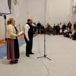 Meskó Gyula, a vendéglátó iskola igazgatóhelyettese / Gyula Meskó, der stellvertretende Direktor der Gastgeberschule