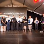 Ünnepélyes bizonyítványátadót tartottak a győri Audi Hungaria Iskolában / Feierliche Zeugnisübergabe in der Audi Hungaria Schule in Raab