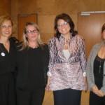 Éva Pénzes (FUEN), Renata Trischler (AGDM), Olga Martens (FUEN-Vizepräsidentin), Mónika Ambach (Zentrum-Direktorin) (Foto: Peter Bien)