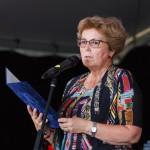 Dr. Perger Elza alpolgármester asszony is gratulált a végzősöknek. / Im Namen der Stadtverwaltung Győr gratulierte Győr Vize-Bürgermeisterin Dr. Elza Perger