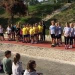 Ünnepélyes sportpálya-avatással egybekötött atlétikaverseny / Feierliche Übergabe der Sportanlage mit Athletikwettkampf