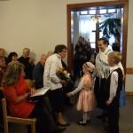 A babarciak rövid kultúrprogrammal köszöntötték a professzorasszonyt / Die Bawazer ehrten die Professorin mit einem kleinen Kulturprogramm