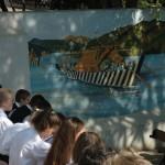 Tutajkép az iskolaudvar falán, Wágner Mátyás alkotása