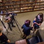 Az Unser Bildschirm stábja több interjút is készített / Das UB-Team führte mehrere Interviews