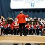 Die Jugendblaskapelle von Boschok-Mohatsch-Schomberg mit ihrem Dirigenten Josef Dobos