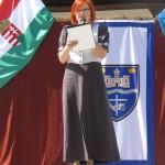 Balázs Brigitta konferálta fel a programokat / Brigitta Balázs moderierte die Veranstaltung