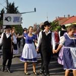 Auch der Freundeskreis Schwäbischer Jugendlicher Hartian nahm am Volksfest teil