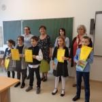 Az irodalmi német kategória 3-4. osztályos korosztályának helyezettjei / Die Platzierten der Kategorie Hochdeutsch 3.-4. Klasse