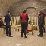 Besprechung im Keller des Hartianer Heimatmuseums