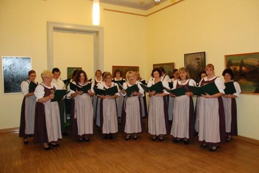 Fellépés Wrábel Sándor festőművész kiállításának megnyitóján (2014. október, Magyarországi Németek Háza)
