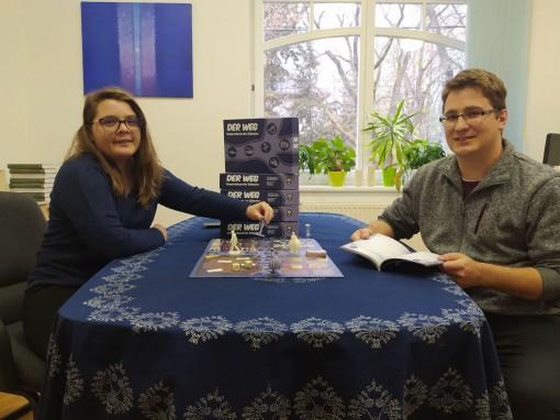 Die Spielentwickler Ildiko Jencsik und Karoly Radoczy
