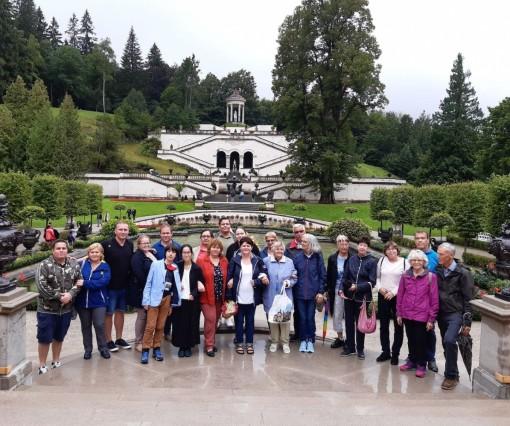 Gruppenfoto im Schlosspark Linderhof