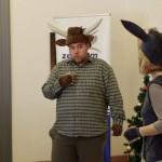 Frank Ildikó és Sólyom Bence szórakoztatták a gyerekeket / Ildikó Frank und Bence Sólyom unterhielten die Kinder