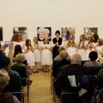A Werischwarer Heimatwerk kórusa betlehemezni jött / Der Chor des Werischwarer Heimatwerks kam, um das Pubilkum mit einem Christkindlspiel zu erfreuen