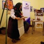 Ament Józsefné (szül. Binder Katalin) mókás Schlachtenbriefet olvasott fel / Katharina Ament (geb. Binder) las einen lustigen Schlachtenbrief vor