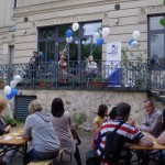 Nyári party a HdU udvarán / Sommerparty auf dem HdU-Hof