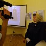 Interjú közben / Beim Interview