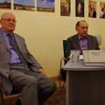 Gerhard Seewann és Szász Zoltán a budapesti könyvbemutatón / Gerhard Seewann und Zoltán Szász bei der Buchvorstellung in Budapest