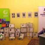 Könyvekkel teli bőröndök, a budapesti Goethe Intézet adománya / Bücherkoffer, gespendet vom Goethe-Institut Budapest