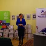 Ambach Mónika megköszönte, hogy a Goethe Intézet folyamatosan támogatja a Zentrumot / Monika Ambach bedankte sich beim Goethe-Institut für die ununterbrochene Unterstützung des Zentrums