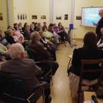 Oszvald József, a városlődi német önkormányzat elnöke tartott előadást / DNSV-Vorsitzender Josef Oszvald hielt einen Vortrag