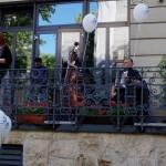 Ambach Mónika, a Zentrum igazgatója köszöntötte a vendégeket / Zentrum-Direktorin Monika Ambach begrüßte die Gäste