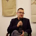 Soós Gábor a kiadó képviseletében beszélt a könyvről / Gábor Soós sprach in Vertretung des Verlags über das Buch