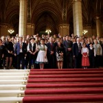 Nemzetiségi kiegészítő támogatások átadása a Parlamentben /  Übergabe der Ergänzungsförderungen an die Nationalitäten im Parlament