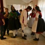 Loshauseni vendégek a műsor szünetében / Gäste aus Loshausen in der Pause