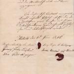 Házassági szerződés 1846-ból