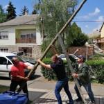 Die Schulleitung sorgte dafür, dass vor dem Schulgebäude ein riesiger Maibaum steht