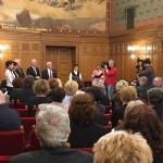 Nemzetiségi kiegészítő támogatások átadása a Parlamentben /  Übergabe der Ergänzungsförderung an die Nationalitäten im Parlament  (Foto: Zentrum)