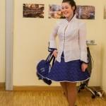 Bucsuházy Piroska kékfestő kollekciójának bemutatója / Modeschau der Blaufärberkollektion von Piroska Bucsuházy (Fotó: Máy Péter)