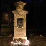 A malenkij robot áldozataira emlékeztek Hajóson 2018. november 4-én / An die Opfer von Malenkij Robot erinnerten sich die Hajoscher am 4. November 2018 (Fotó: Ginál Róbert)