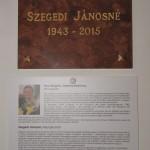 Emléktáblát avattak a tarjáni tájházban Szegedi Jánosné emlékére