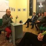 Cornelius Hell a közönséget is megszólította / Das Publikum wurde auch angesprochen