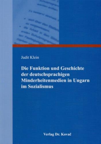 Minderheitenmedien im Sozialismus in Ung