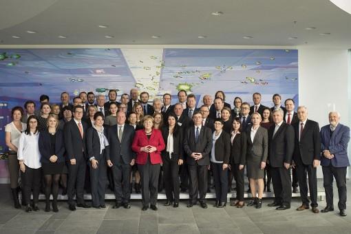 Bundeskanzlerin Angela Merkel empfängt Vertreter der Arbeitsgemeinschaft Deutscher Minderheiten (AGDM) 2016